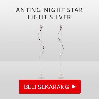 Anting Night Star Light Silver