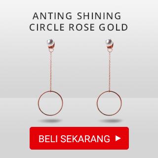 Anting Shining Circle Rose Gold