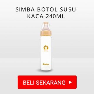 SIMBA BOTOL SUSU KACA 240ML