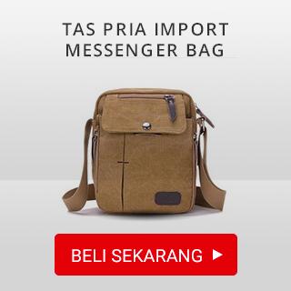 Tas pria import messenger bag