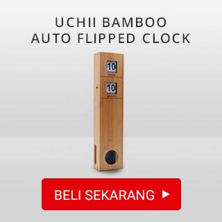 UCHII Bamboo Auto Flipped Clock
