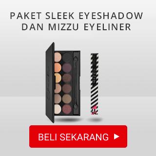 Paket Sleek Makeup Idivine Eyeshadow dan Mizzu Eyeliner Black