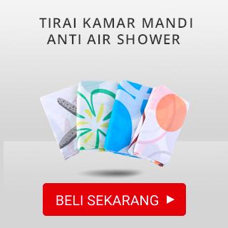 Tirai kamar mandi anti air shower