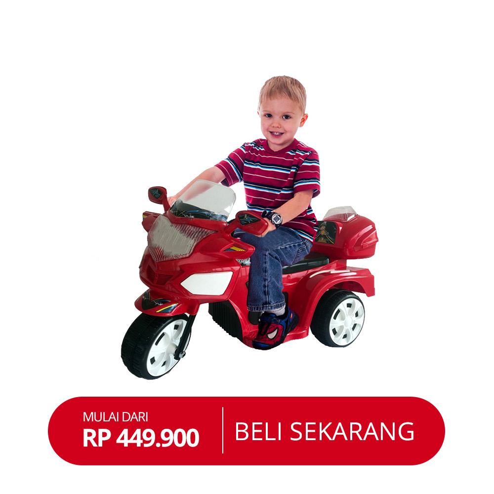 Free Ongkir Se-Jawa Ocean Toy Yotta Ride On Motor Aki Halilintar - Merah